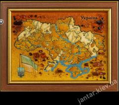Amber Ukraine map