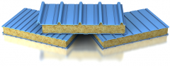 Wall and roofing sandwich panel