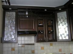 Kitchens from the massif of an oak from the