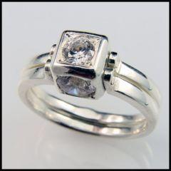 Кольцо, серебро Ag 925° пробы, вставки -