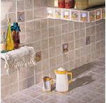 Tile for a bathroom