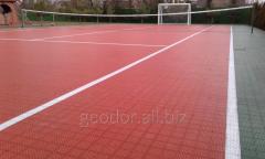 Модульное покрытие для теннисного корта ГЕОДОР