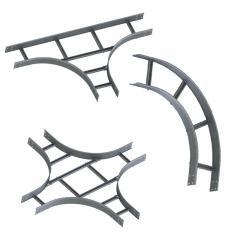 Accessories to ladder cable trays of H=50, 80, 100