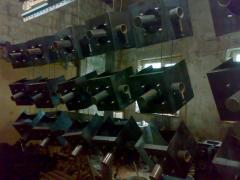 Production buildings for briquette boilers