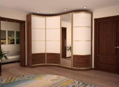 Radial sliding wardrobes from the producer