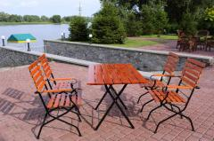 The furniture is terrace, Folding furniture for