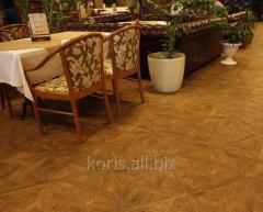 Oak parquet for restaurants
