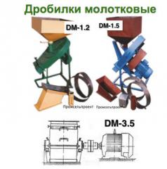 Crusher molotkovy for grain, corncobs, straw, meal