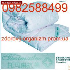 Турмалиновое одеяло с шелком и магнитами лечебное