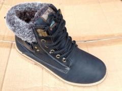 Ботинки мужские с мехом (зима) Искусственный бук и