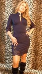 Платье стильное трикотажное  с перфорацией.