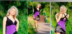 Платье яркое мини с аппликацией-Эдем