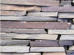 Камень фасадный - торец 1,5 - 2,5 см. серая от
