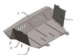 Защита поддона двигателя Fiat Doblo пластик Код: