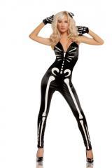 Уникальный костюм светящийся в ночи скелет
