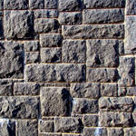 Sawn and chipped stone blocks