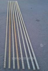 Комплект прутов стеклопластиковой арматуры, d6 мм.  для изготовления парника.