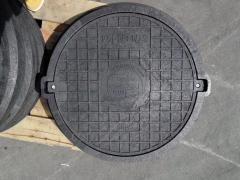 Люк серии ЕВРО нагрузка 12.5 т черный с замком