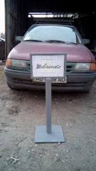Mobile parking protections. Parking columns with