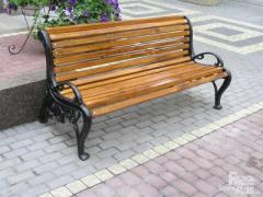 Benches are garden, park.