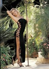 Сексуальное облегающее платье со шнуровкой по бокам