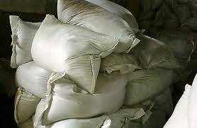 Wheat which is packed up in pp bags