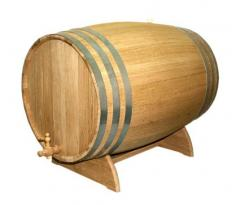Бочка для вина дубовая на подставке 80л