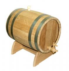 Бочка для вина дубовая на подставке 25л