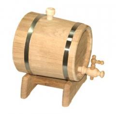 Жбан для вина и коньяка дубовый на подставке 10л