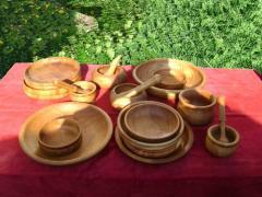 Посуда деревянная столовая