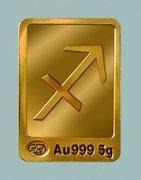 Gold ingots of 10 g