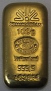Злитки золота 100 гр лиття