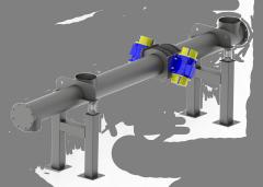 Трубчатый вибро-транспортер с двойным электродвиг. приводом
