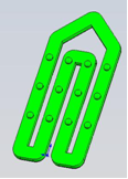 "Compression mold on ""Paper clips"