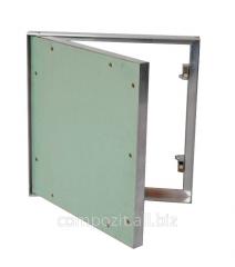 Люки-невидимки под обои и покраску модель КОРОБ (поворотная дверца)