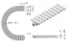 Ланцюг пластинчастий RTF70, із пластику, для Tetra Pak