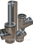 Дымоход двустенный d=100/160 мм из нержавеюще