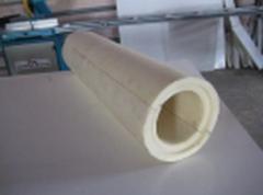 Теплоизоляционная скорлупа из пенополиуретана (ППУ),  D63мм, толщина слоя изоляции 37мм