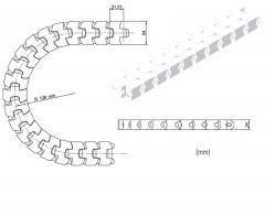Ланцюг пластинчастий FT54, із пластику, для Tetra Pak