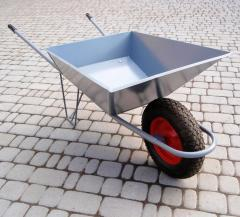 The wheelbarrow is one-wheeled