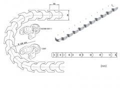 Ланцюг пластинчастий KLDH50, із пластику, для Tetra Pak