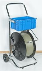 The cart for packing by a polypropylene tape