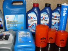 Semi-synthetic engine oil for diesel engines
