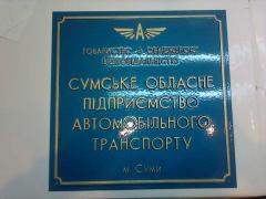 Front sign blue 40х60