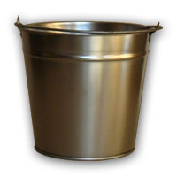 Buckets from non-ferrous metals.