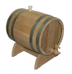Barrel for wine oak on a support of 10 l
