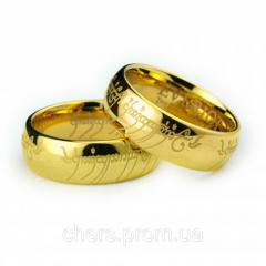 Кольцо Всевластия Everiot из вольфрама, золотое
