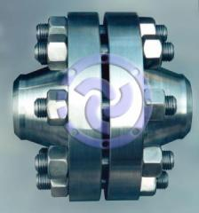 Flanges steel. The flanges isolating.