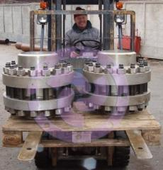 Flanges are rotary. Flanges are mobile