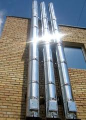 Flues from stainless steel for coppers solid